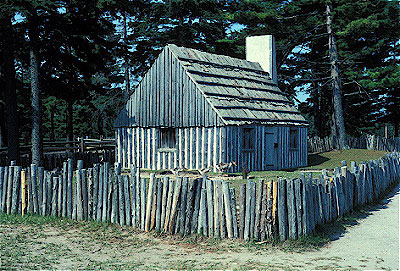 French log cabin for Colonial log homes